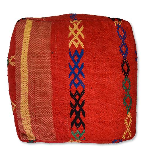 moroccan floor cushion red