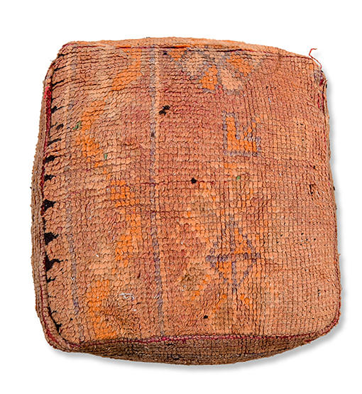 moroccan floor cushion orange